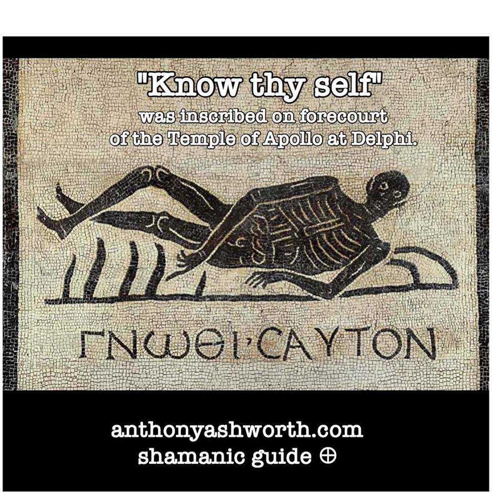 """Know thy self"""